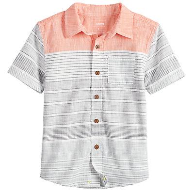 Boys 4-12 SONOMA Goods for Life? Striped Pocket Button Down Shirt