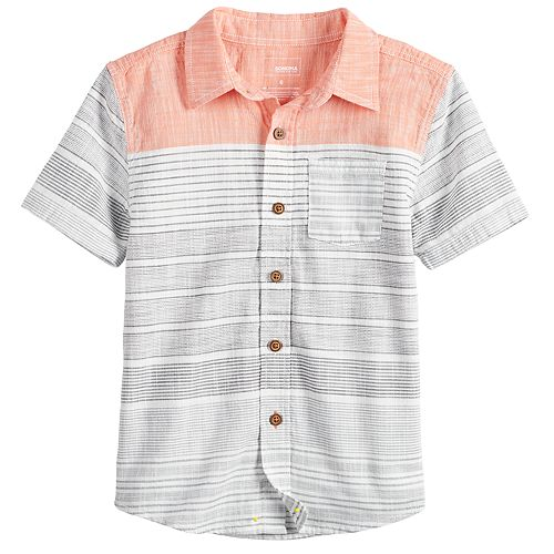 Boys 4-12 SONOMA Goods for Life™ Striped Pocket Button Down Shirt