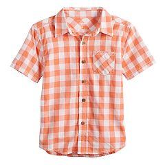 Boys 4-12 SONOMA Goods for Life™ Checkered Button Down Shirt