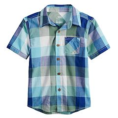 Boys 4-12 SONOMA Goods for Life™ Checkered Plaid Button Down Shirt
