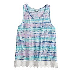 Girls 7-16 Mudd® Crochet Hem Tank