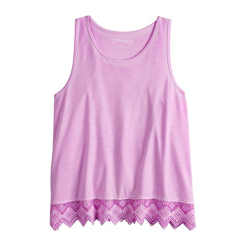 Girls 7-16 & Plus Size Mudd® Crochet Hem Tank