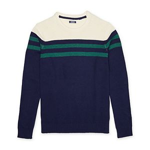 Big & Tall IZOD Striped Crewneck Sweater