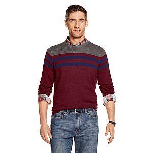 Big & Tall IZOD Striped Crewneck Sweater