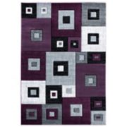 United Weavers Bristol Collection Cicero Geometric Simple Trellis Design Area Rug