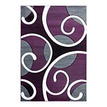 United Weavers Bristol Collection Riley Whimsical Swirl Area Rug