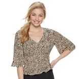 Juniors' Mudd® Smocked Waist Top