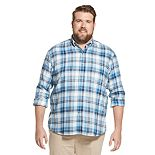 Big & Tall IZOD Flannel Plaid Button-Down Shirt