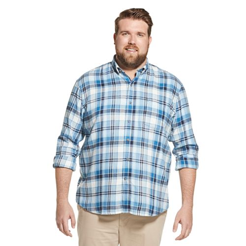 Big & Tall Izod Flannel Plaid Button Down Shirt by Izod