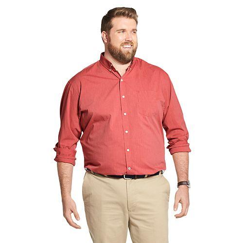 Big & Tall IZOD Premium Essentials Stretch Button-Down Shirt
