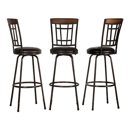 Hillsdale Furniture 3-Piece Adjustable Stool Set
