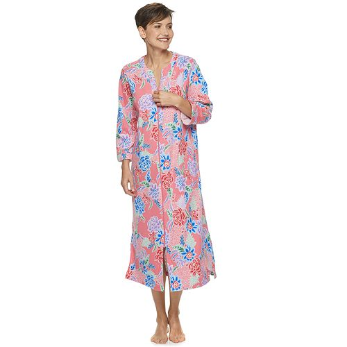 Petite Miss Elaine Essentials Knit Snap Robe