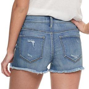 Juniors' Mudd® High Rise Americana Shortie Shorts