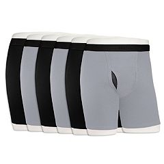cadc8d2ab878 Men's Fruit of the Loom Signature 5-pack + 1 Bonus Cool Zone Fly Boxer. Black  Gray Assorted Blue Assorted