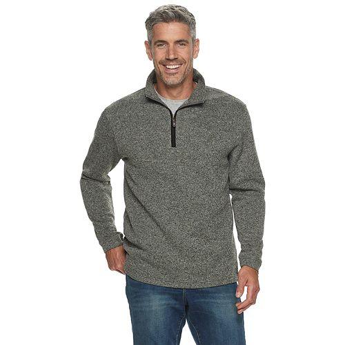 Men's Haggar Quarter-Zip Sweater Fleece Pullover