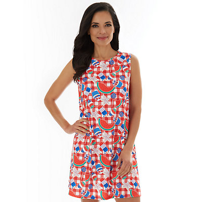Women's Sleeveless Swing Dress
