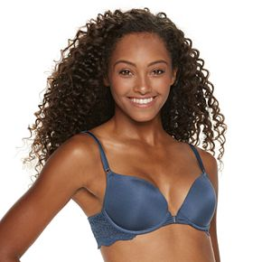 Juniors' SO® Front Closure Soft Lift Bra with Lace Back