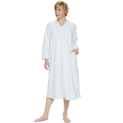 Petite Miss Elaine Essentials Brushed Back Terry Long Robe