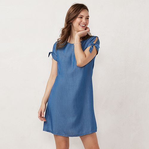 NEW! Women's LC Lauren Conrad Knot-Sleeve Swing Dress