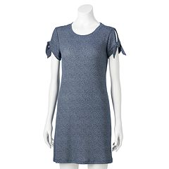 NEW! Women's LC Lauren Conrad Knot-Sleeve Swing Dress