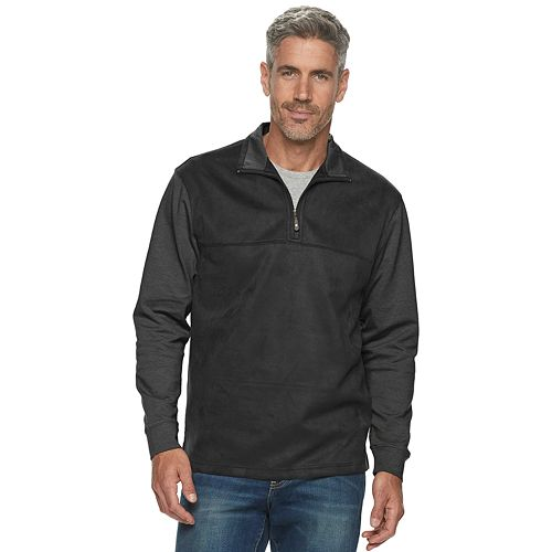 Men's Haggar Classic-Fit Quarter-Zip Faux-Suede Fleece Pullover