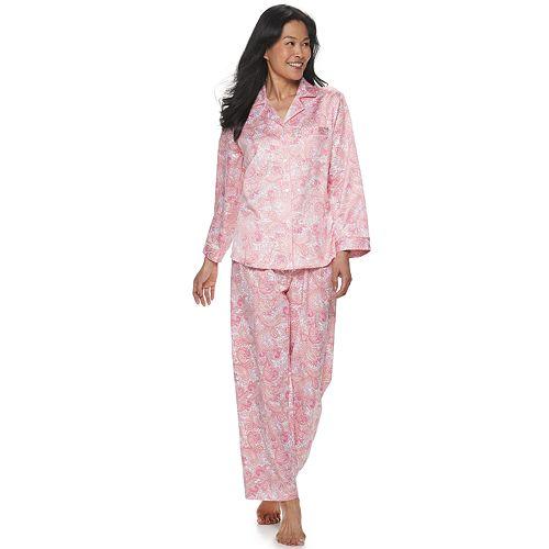 Women's Miss Elaine Essentials Satin 2-Piece Pajama Set