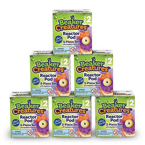 Learning Resources Beaker Creatures Series 2 Reactor Pods (6-pack)