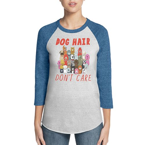 "Women's Skechers Bobs for Dogs ""Dog Hair Don't Care"" Baseball Graphic Tee"