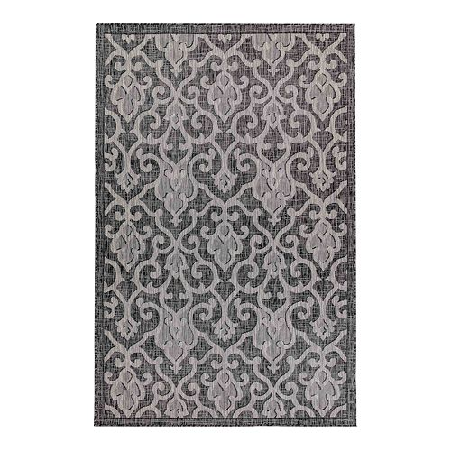 Liora Manne Carmel Baroque Indoor Outdoor Rug