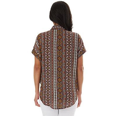 Women's Apt. 9® Button-Front Tie Shirt