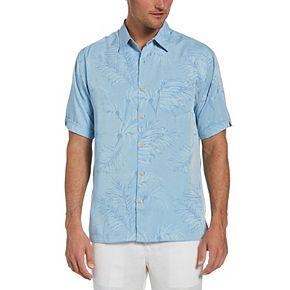 Men's Cubavera Classic-Fit Jacquard Tropical Button-Down Shirt