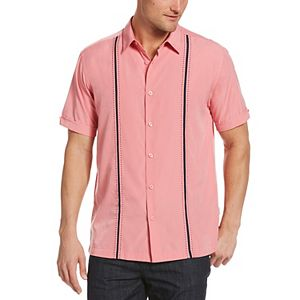 Men's Cubavera Classic-Fit Paneled Button-Down Shirt