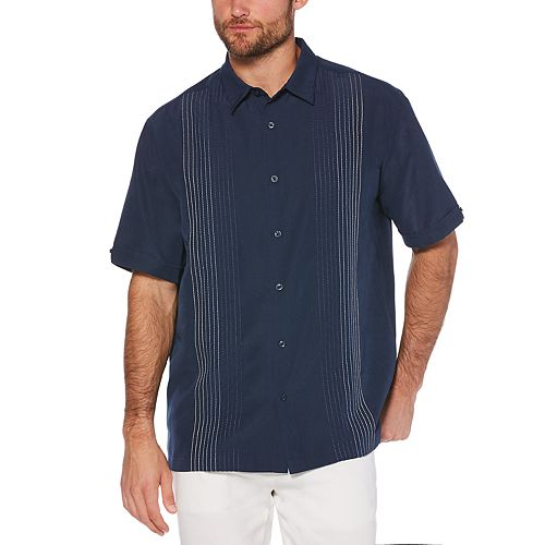 Men's Cubavera Classic-Fit Textured Ombre Embroidered Button-Down Shirt
