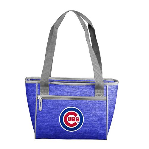 Logo Brand Chicago Cubs Crosshatch 16-Can Cooler Tote