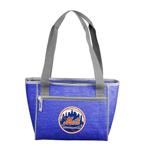 Logo Brand New York Mets Crosshatch 16-Can Cooler Tote