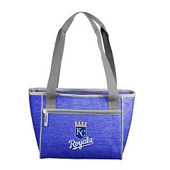 Logo Brand Kansas City Royals Crosshatch 16-Can Cooler Tote