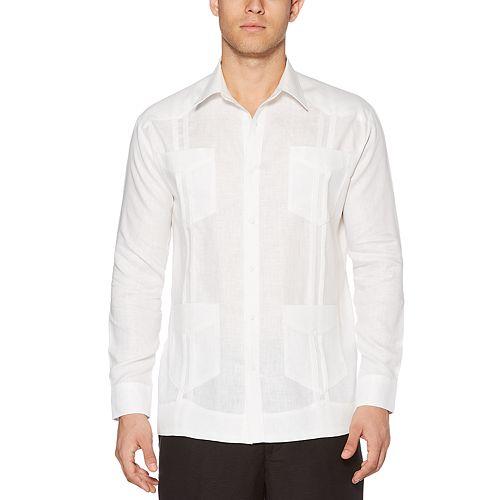 Men's Cubavera Classic-Fit Guyabera Long-Sleeved Button-Down Shirt
