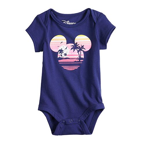 Disney's Mickey Mouse Baby Navy Blue Graphic Bodysuit by Family Fun