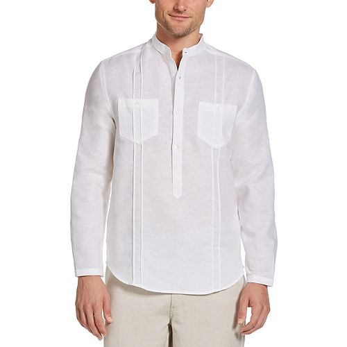 Men's Cubavera Classic-Fit Linen-Blend Popover Shirt