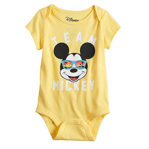 "Disney's Mickey Mouse Baby ""Team Mickey"" Graphic Bodysuit by Family Fun™"