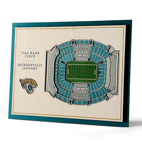 Jacksonville Jaguars 3D Stadium Wall Art
