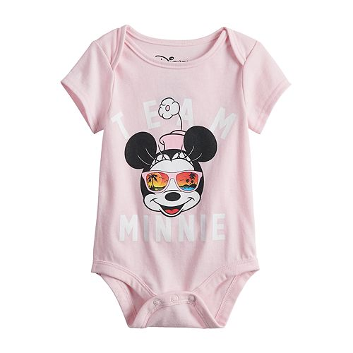 "Disney's Minnie Mouse Baby ""Team Minnie"" Graphic Bodysuit by Family Fun™"