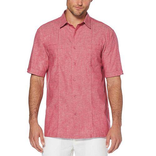 Men's Cubavera Classic-Fit Linen-Blend Pintuck Button-Down Shirt