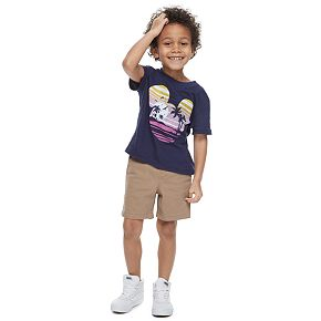 Disney's Mickey Mouse Boys 4-7 Navy Blue Graphic Tee by Family Fun