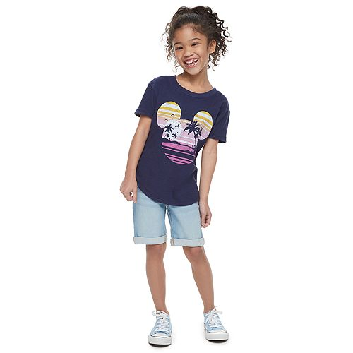 Disney's Mickey Mouse Girls 4-7 Navy Blue Graphic Tee by Family Fun™