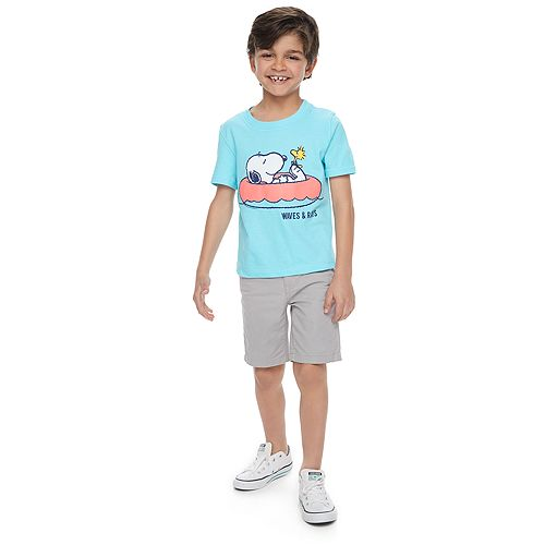Boys 4-7 ​Family Fun™ Peanuts Snoopy Waves & Rays Graphic Tee