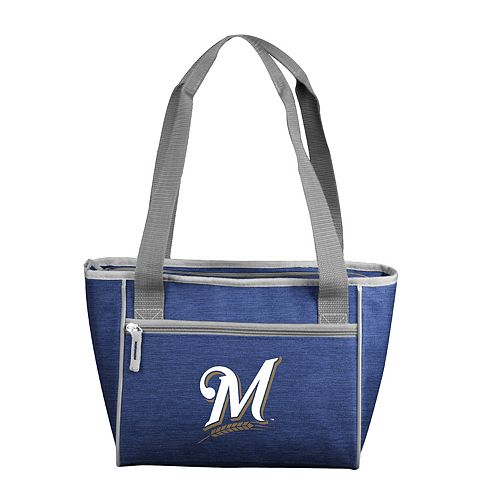 Logo Brand Milwaukee Brewers Crosshatch 16-Can Cooler Tote