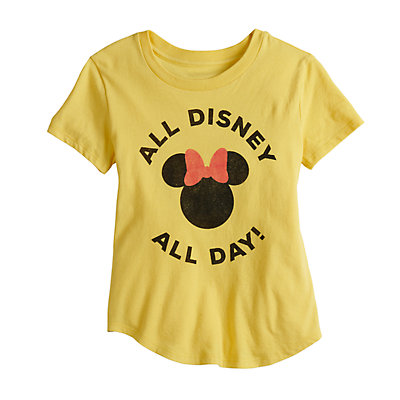 """Disney's Minnie Mouse Girls 4-7 """"All Disney All Day"""" Graphic Tee by Family Fun"""