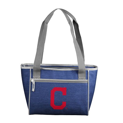 Logo Brand Cleveland Indians Crosshatch 16-Can Cooler Tote