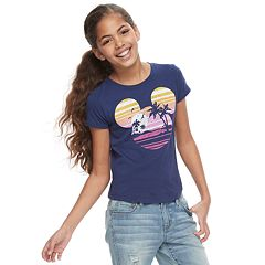 286d8f0b323 Disney s Mickey Mouse Girls 7-16 Navy Blue Graphic Tee by Family Fun